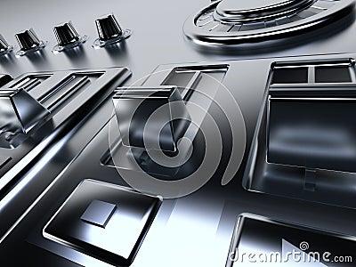 Metallic control panel