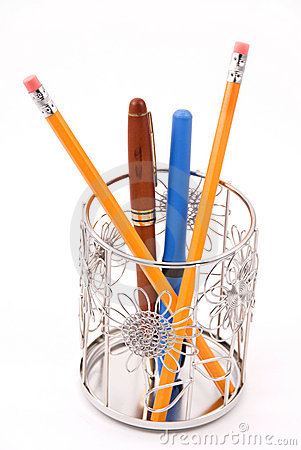 Metallic Daisy Pencil Holder