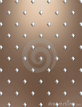 Metallic diamond background