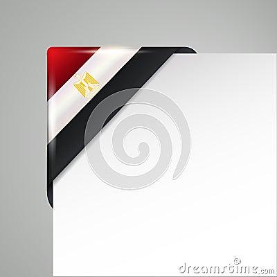 Metallic egypt flag corner isolated vector illustration Vector Illustration