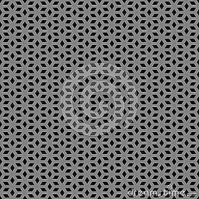 Metallic escher pattern