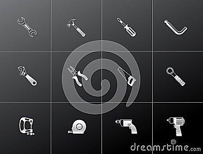Metallic Icons - Hand Tools