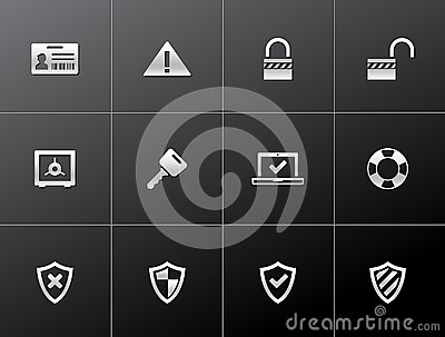 Metallic Icons - Inhternet Security
