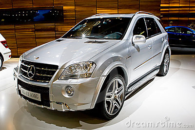 Metallic jeep Mersedes ML 65 Editorial Stock Photo