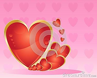 Metallic love heart