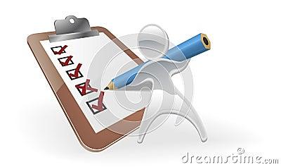 Metallic mascot survey feedback concept