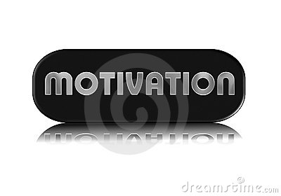 Metallic motivation sign