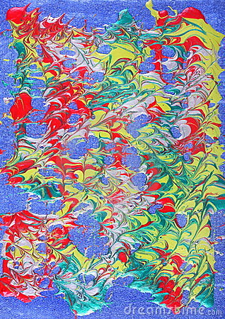 Metallic paint abstract