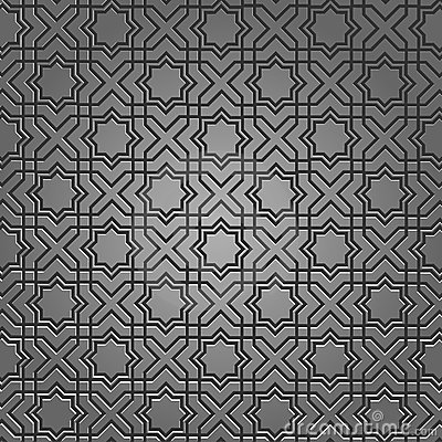 Metallic pattern on islamic motif