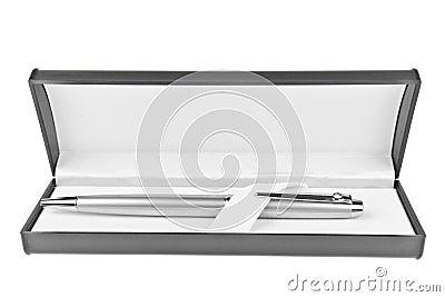 Metallic pen in box