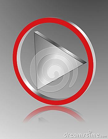 Metallic play icon