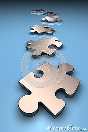 Free Metallic Puzzle Pieces Stock Image - 1167211