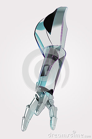 Metallic robotic arm for industrial use