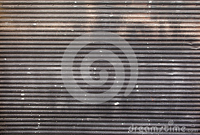 Metallic roller shutter door Stock Photo