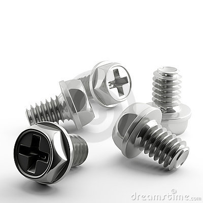 Free Metallic Screw-bolts Royalty Free Stock Images - 16131079