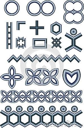 Free Metallic Shapes Royalty Free Stock Images - 2664039