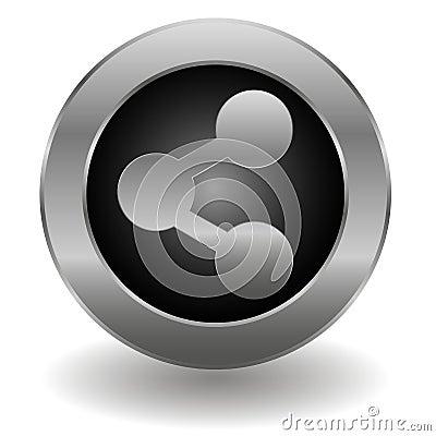 Metallic share button