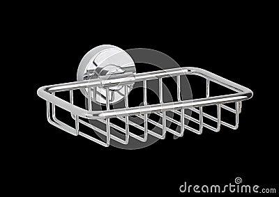 Metallic soap or lotion shelf