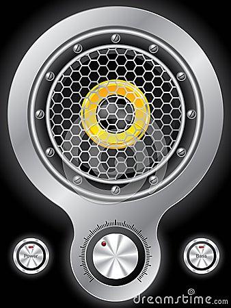 Metallic speaker design with hexagon mesh
