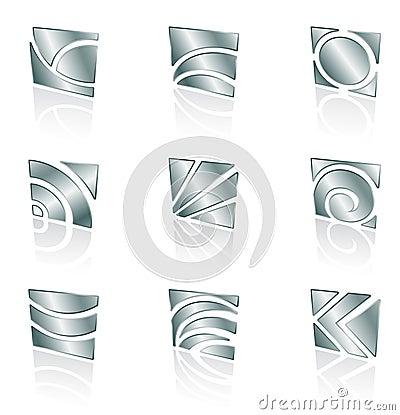 Free Metallic Square Icons Stock Photos - 9012603