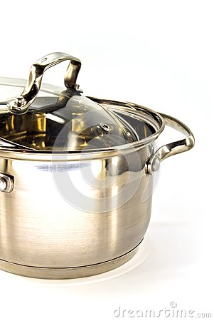 Metallic stew pan