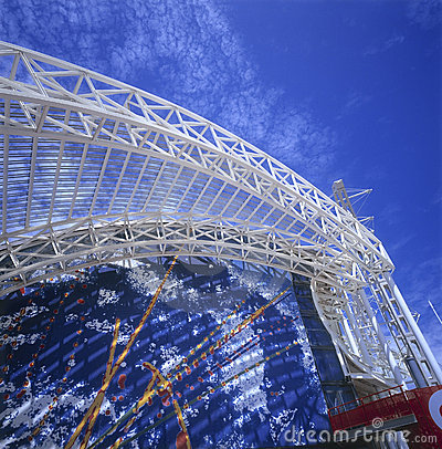 Metallic structure Editorial Stock Photo
