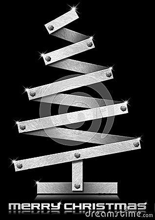 Metallic and Stylized Christmas Tree