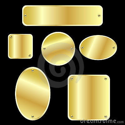Metallic tags - golden