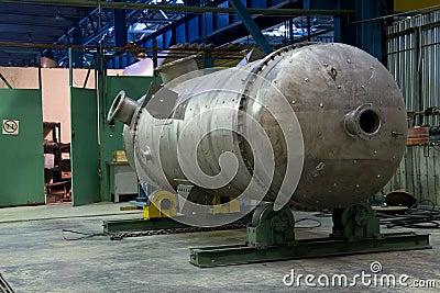 Metallic tank just made