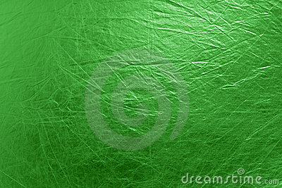 Metallic textured bright green background