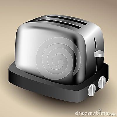 Metallic toaster