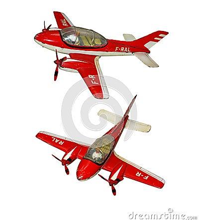 Metallic toy plane