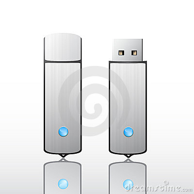 Free Metallic Usb Flash Drive Stock Photo - 8040140
