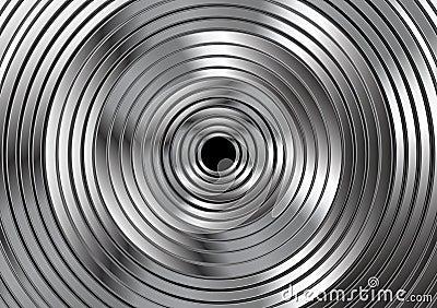 Metallic vector circles abstract design Vector Illustration