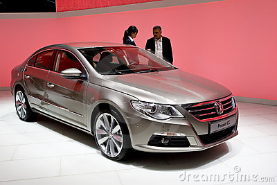 Metallic Volkswagen Passat cc Editorial Stock Photo