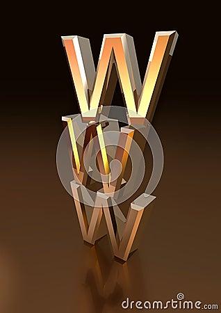 Metallic WWW symbol