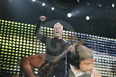 Metallica  performs in Budapest Editorial Photo
