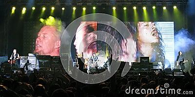 Metallica on Tour Editorial Image