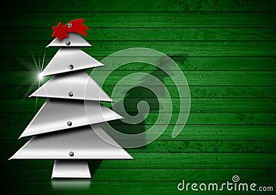 metallischer und stilisierter weihnachtsbaum lizenzfreies. Black Bedroom Furniture Sets. Home Design Ideas