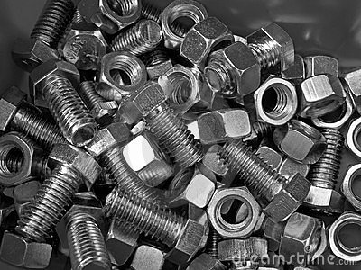 Metalllic nuts and bolts