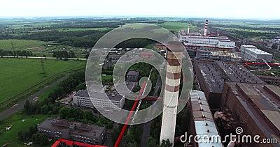 metallurgie De installatie van de ferrolegeringenverwerking stock videobeelden