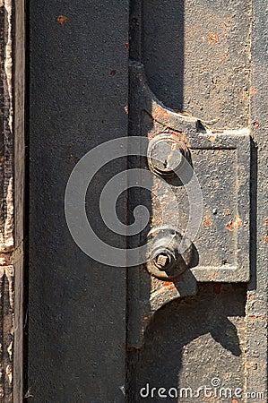 Metalowe szczegółów drzwi