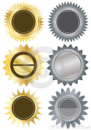 Free Metals Circle Blank Stickers_eps Royalty Free Stock Photography - 20129727