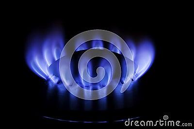 Metane or butane gas