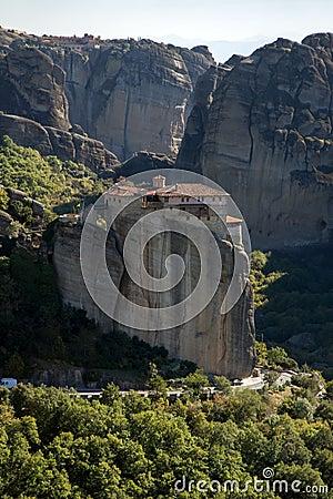 Meteora, Holy Monastery Of Rousanou St. Barbara Stock ...