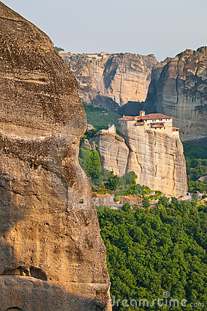 Meteora Rocks and Monastery Rousanou