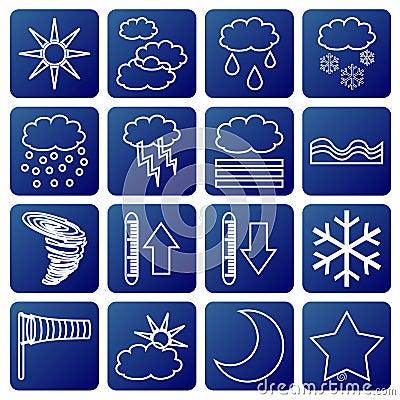 Free Meteorologic Symbols Royalty Free Stock Photography - 1864717