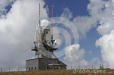 Meteorological Station at the Feldberg, Germany Editorial Stock Image