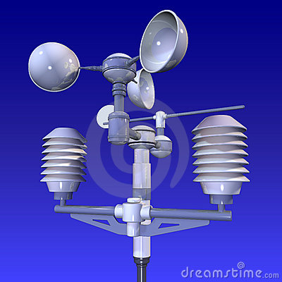 Free Meteorological Weatherstation Royalty Free Stock Photos - 2502408