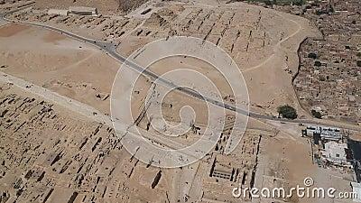 Metragem do zangão da grande esfinge de Giza perto do Cairo Egito